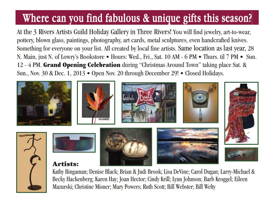 2013 3rivart Holiday Gallery postcard
