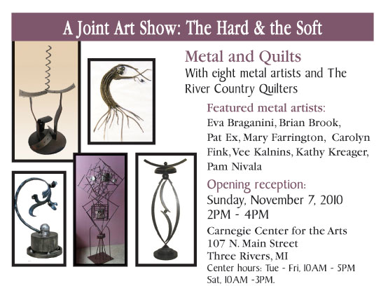 Three Rivers Carnegie show Metal and Quilts