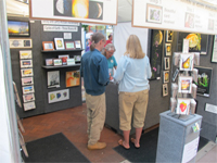 Work of recognized local artists may be found in booths at art fairs.