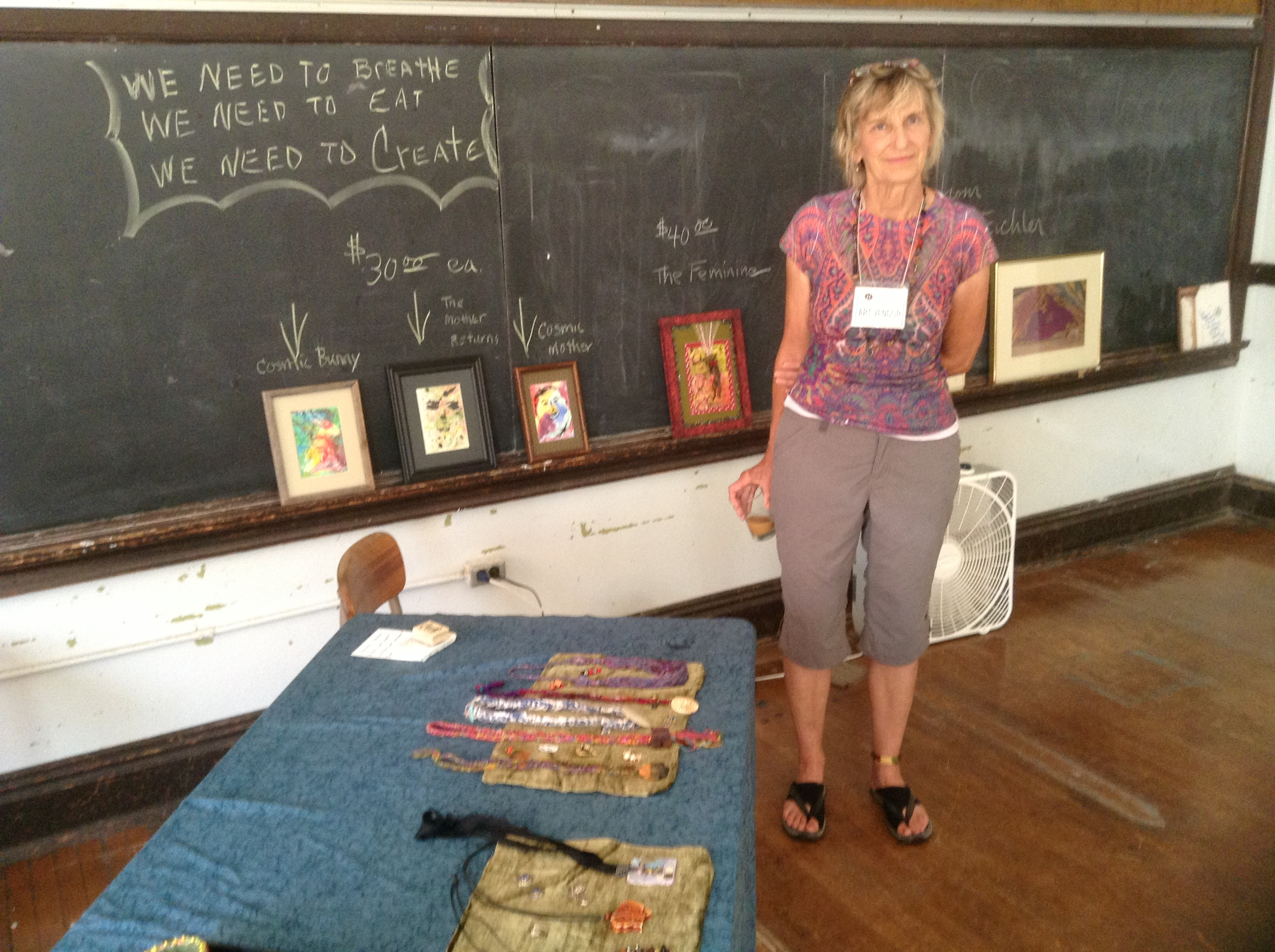 Gail Walters' studio at Huss